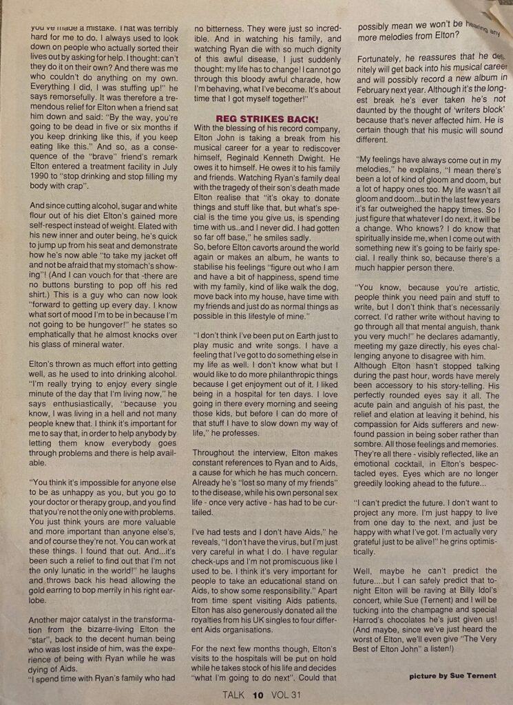 Elton John interview page 2