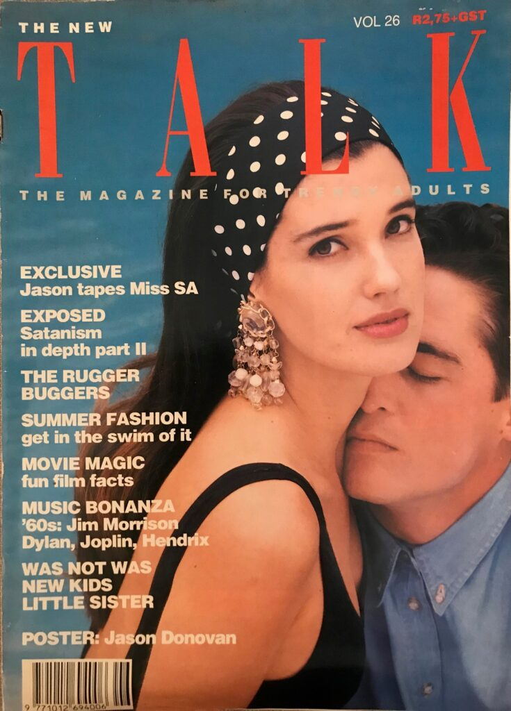 Jason Robert and Miss van der Merwe on the front page of TALK