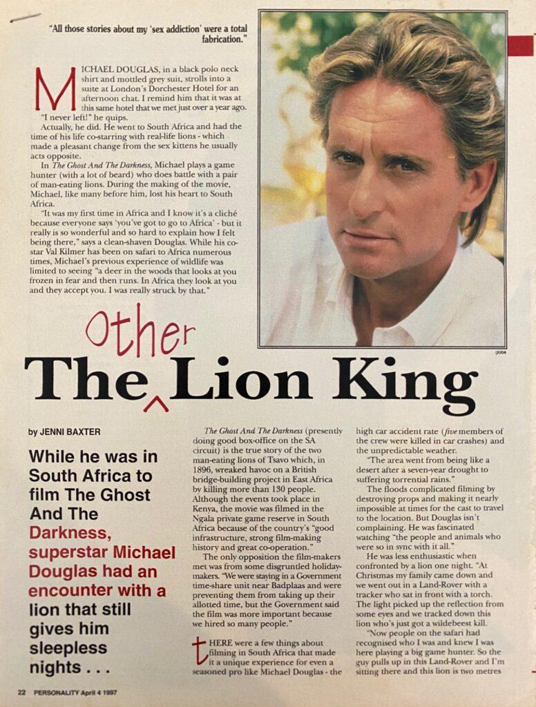 Michael Douglas Interview Page 1