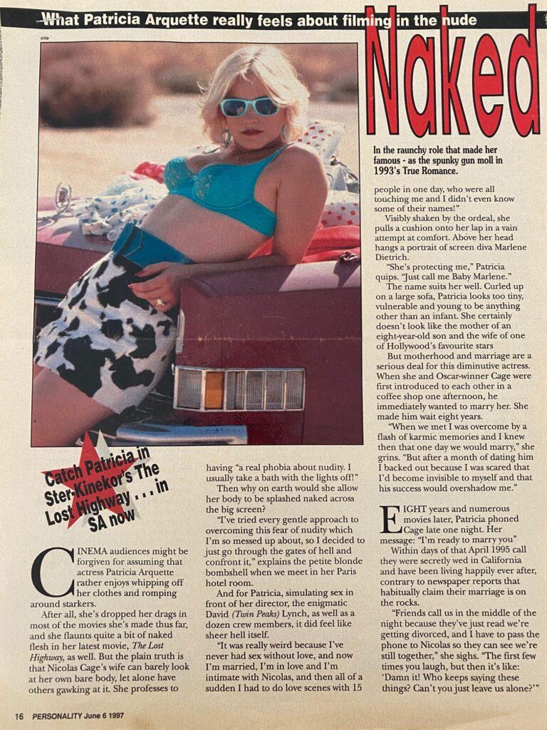 Patricia Arquette Interview Page 1