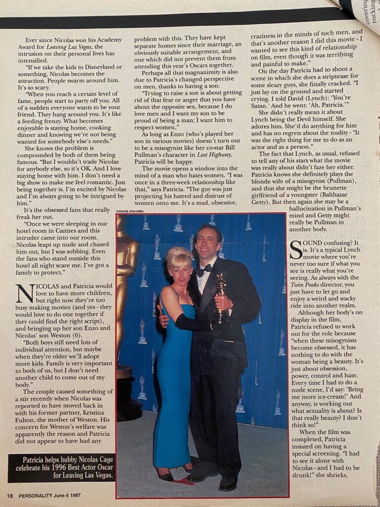 Patricia Arquette Interview Page 2