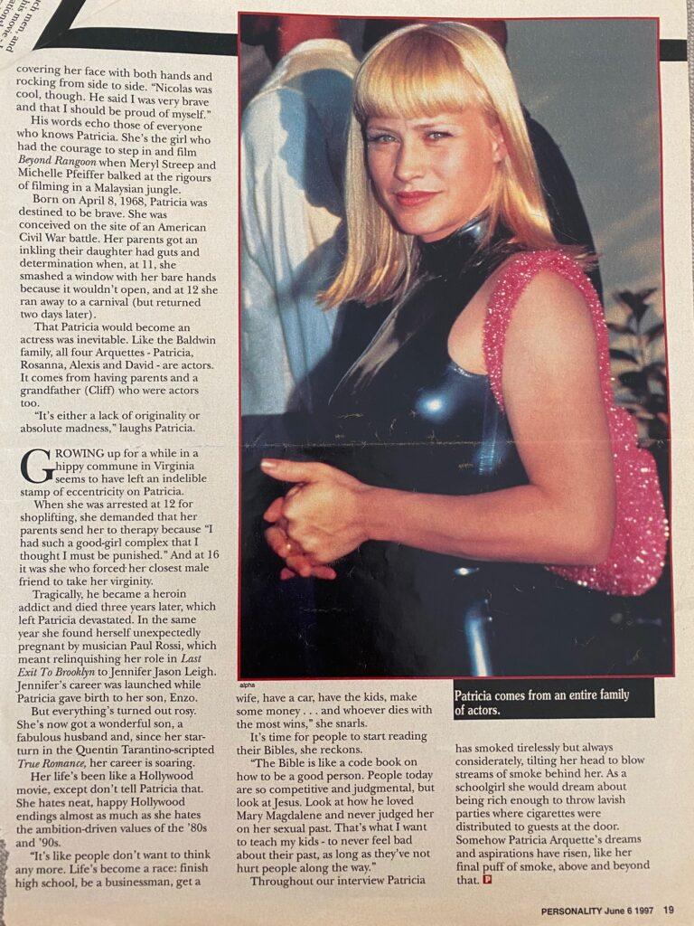 Patricia Arquette Interview Page 3