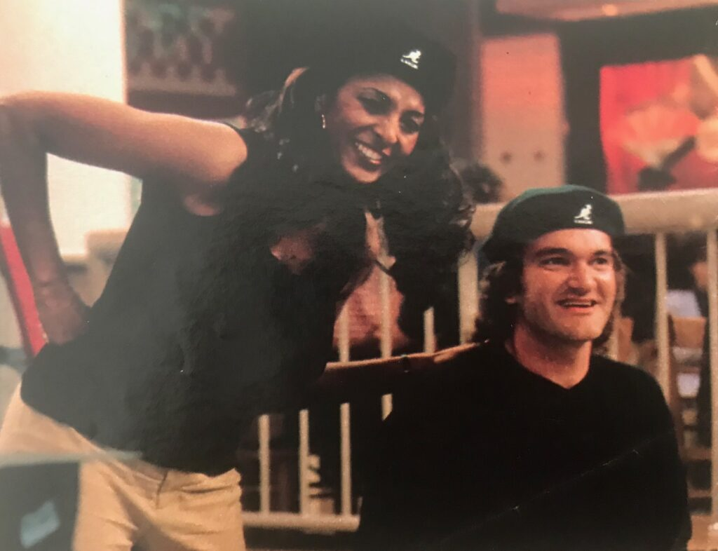Quentin Tarantino and Pam Grier