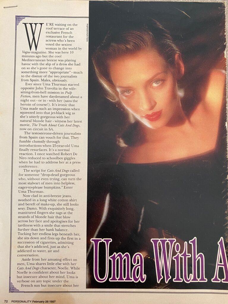 Uma Thurman Interview Page 1