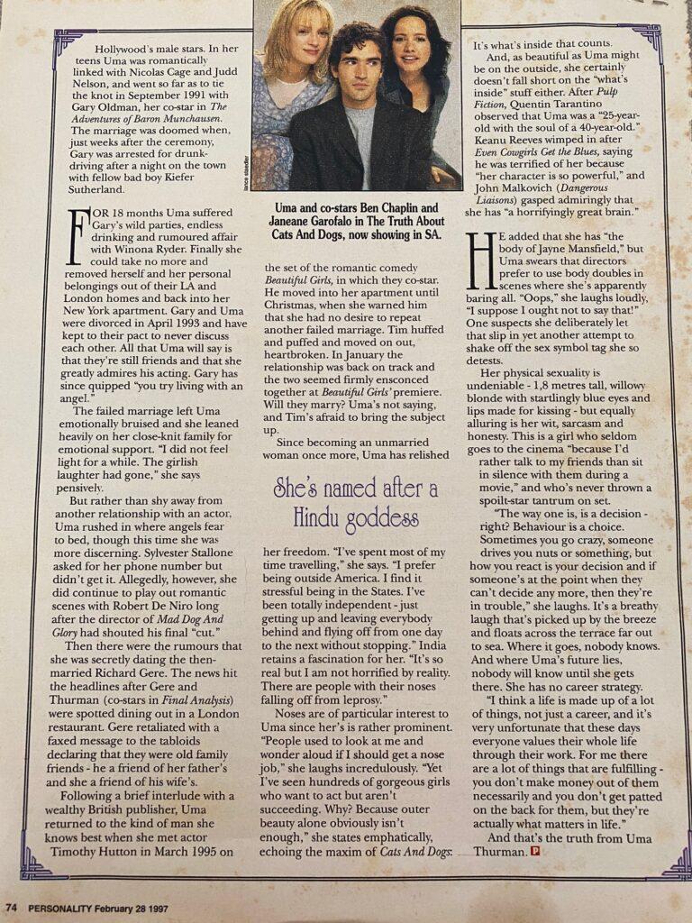 Uma Thurman Interview Page 3