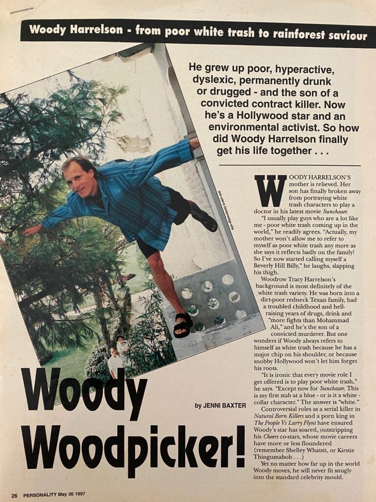 Woody Harrelson Interview Page 1
