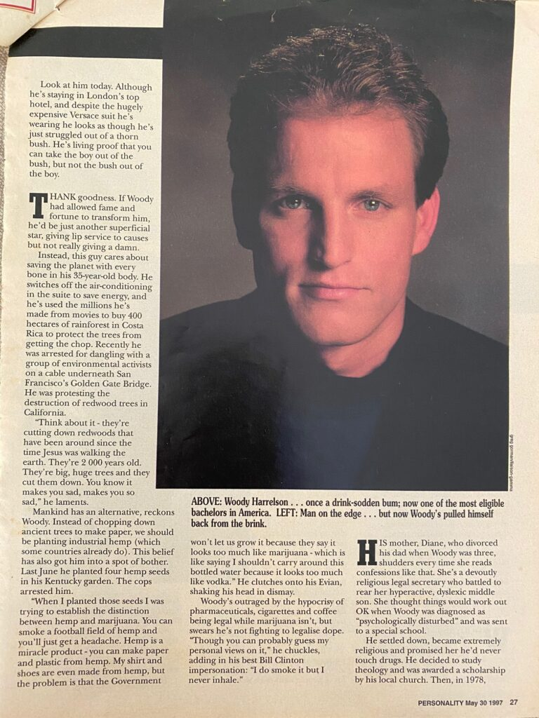Woody Harrelson Interview Page 2