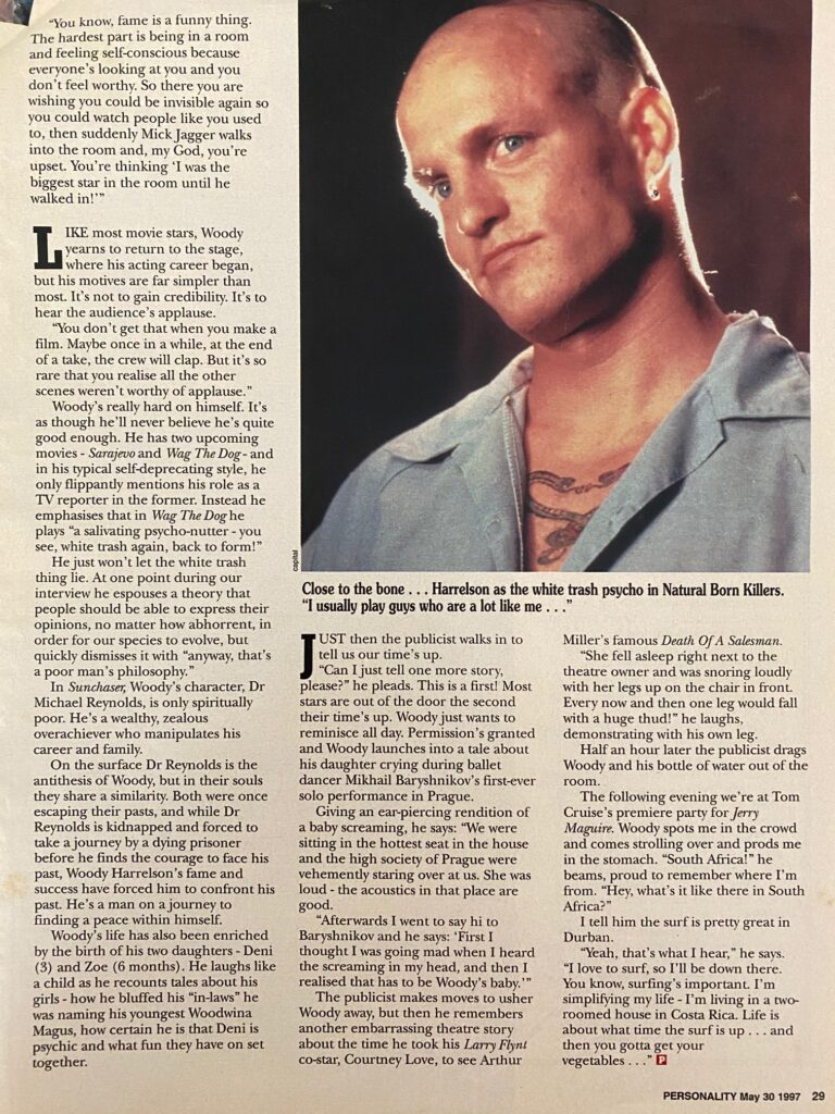 Woody Harrelson Interview Page 4