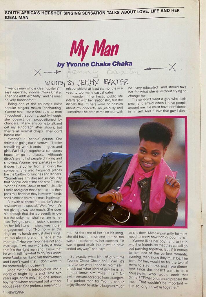 Yvonne Chaka Chaka Interview Page 1