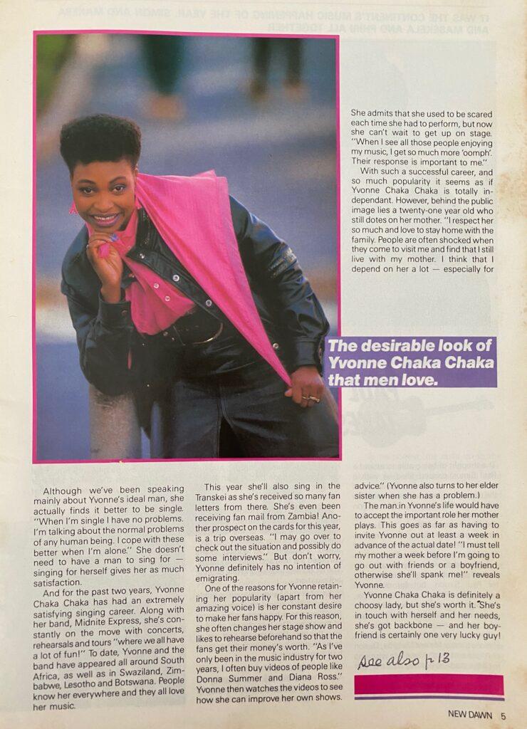 Yvonne Chaka Chaka Interview Page 2